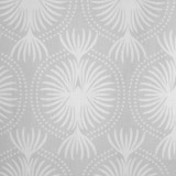Fern Fabric in silver grey